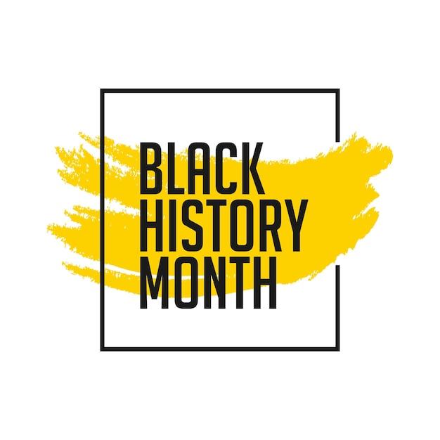 Schwarze Geschichte Monat Vorlage | Download der Premium Vektor