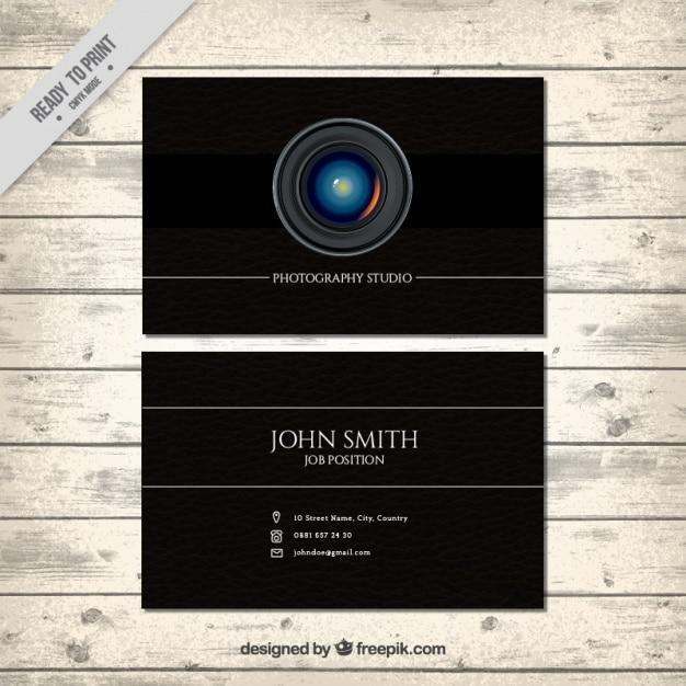 Schwarze karte für die fotografie Kostenlosen Vektoren