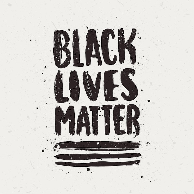 Schwarze leben sind wichtig schriftzug Premium Vektoren