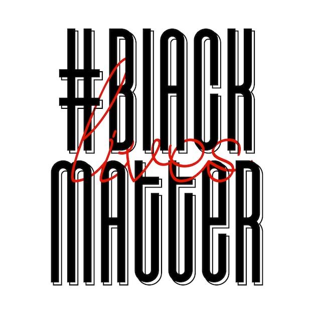 Schwarze leben zählen. protestbanner über das menschenrecht der schwarzen in den usa. vektor-illustration. Premium Vektoren