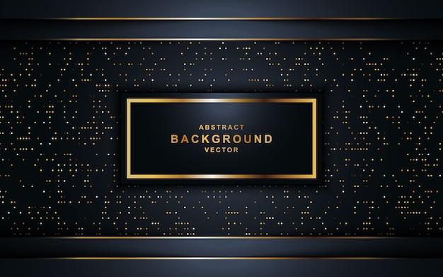 Schwarze luxusüberschneidung überlagert hintergrund mit funkeln. Premium Vektoren