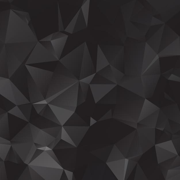 Schwarze polygonale illustration, die aus dreiecken besteht. geometrischer hintergrund in der origami art mit steigung. dreieckiges design für ihr unternehmen. Premium Vektoren