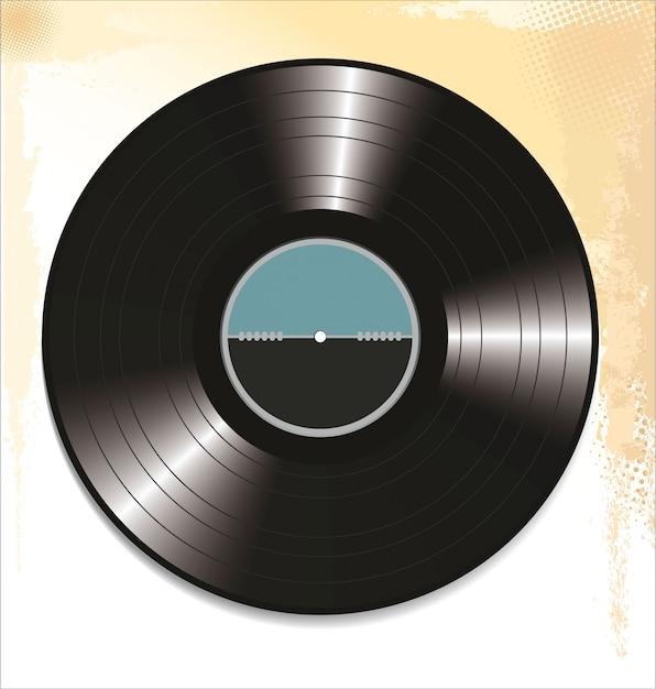 Schwarze schallplatte Premium Vektoren