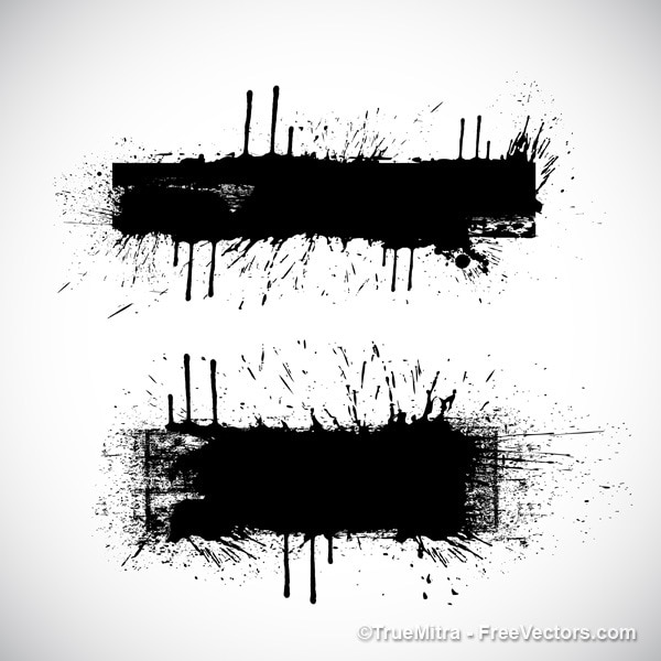 Schwarze spritzer auf weißem hintergrund degrade Kostenlosen Vektoren