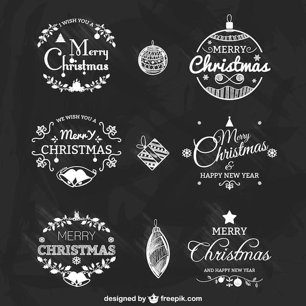 schwarze und wei e weihnachten abzeichen packen download. Black Bedroom Furniture Sets. Home Design Ideas