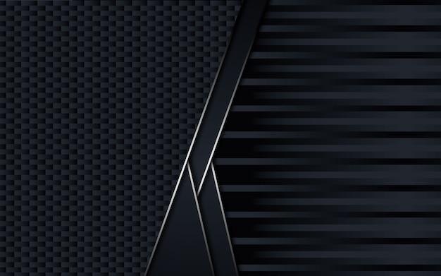 Schwarzer abstrakter geschäftlicher hintergrund. design. Premium Vektoren