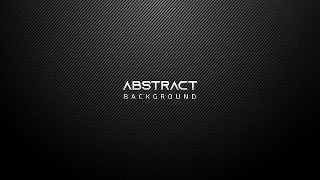 Schwarzer abstrakter technologie-hintergrund mit diagonalen linien Premium Vektoren
