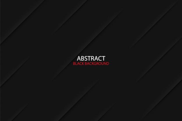 Schwarzer dunkler abstrakter geometrischer hintergrund mit schatteneffekt Premium Vektoren