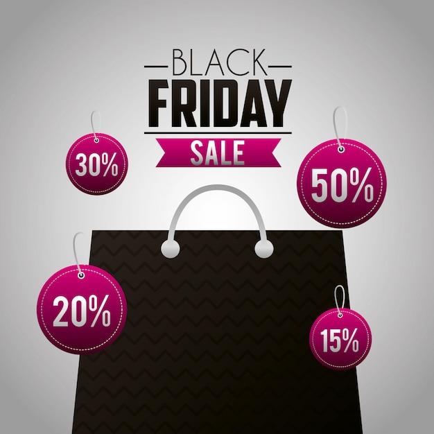 Schwarzer freitag-einkaufsverkaufshintergrund Kostenlosen Vektoren