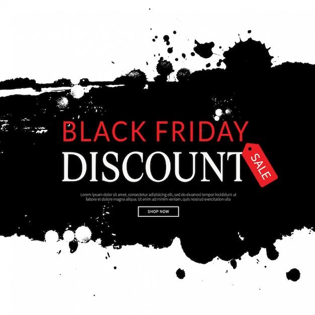 Schwarzer freitag-hintergrund, einkaufsschablone Premium Vektoren