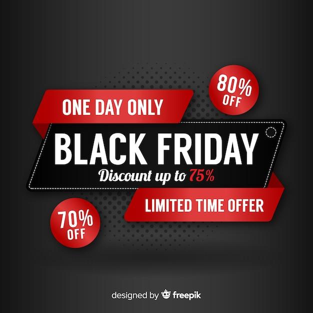 Schwarzer Freitag Kostenlose Vektoren