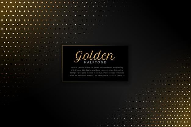 Schwarzer hintergrund mit goldenem halbtonbild Kostenlosen Vektoren