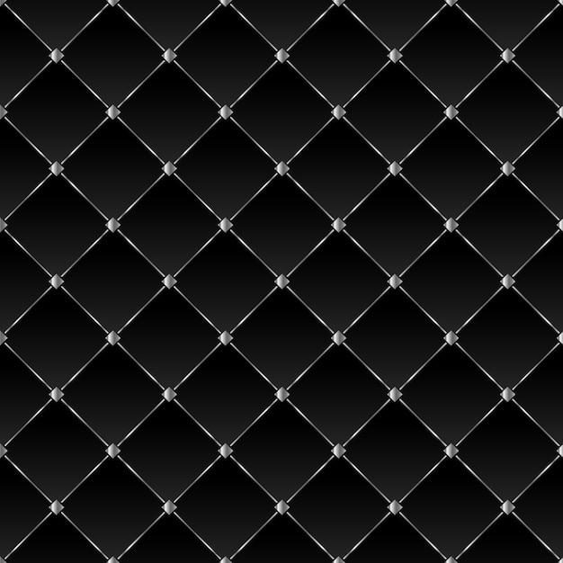 Schwarzer hintergrund mit silbernen quadraten und diagonalen linien Premium Vektoren