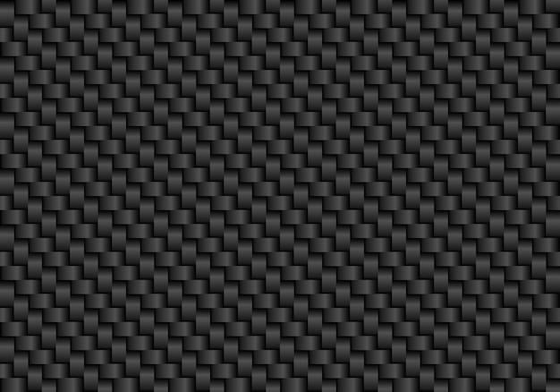 Schwarzer kohlefaser nahtlose hintergrund Premium Vektoren