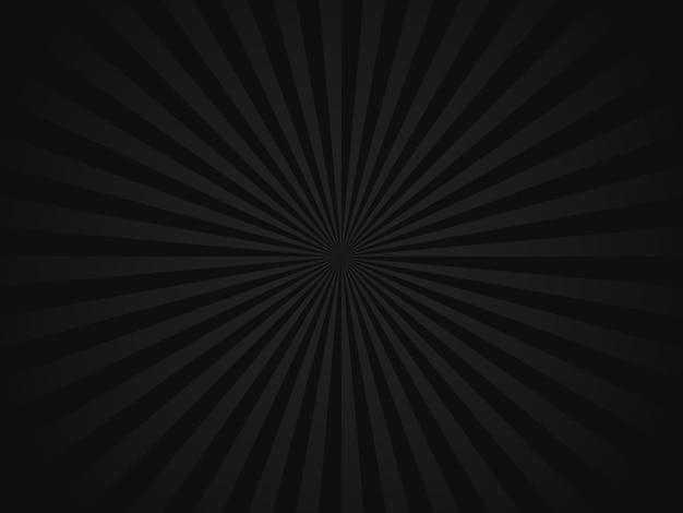 Schwarzer retro- sonnenstrahlhintergrund Premium Vektoren