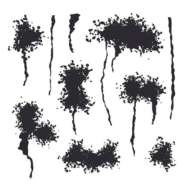 Schwarzer spray getrennt Premium Vektoren