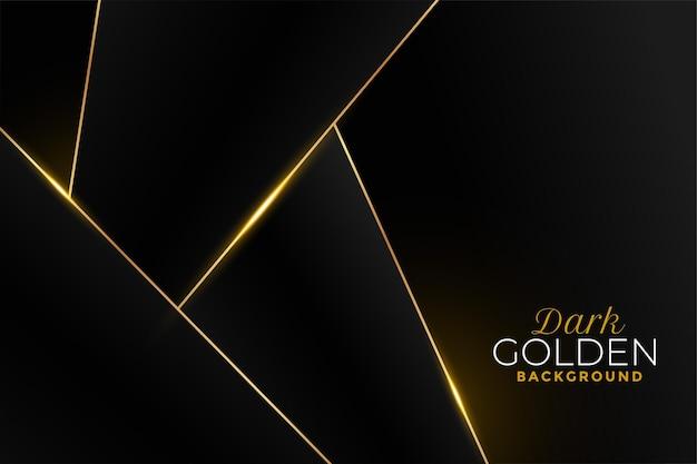 Schwarzer und goldener hintergrund im geometrischen stil Kostenlosen Vektoren