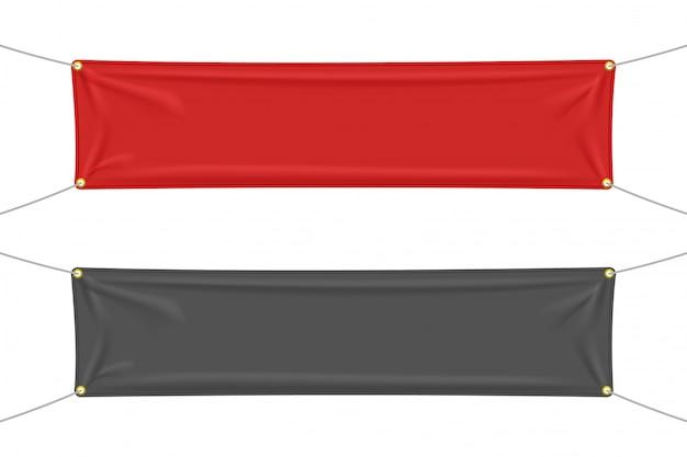 Schwarzer und roter stoff mit falten Premium Vektoren