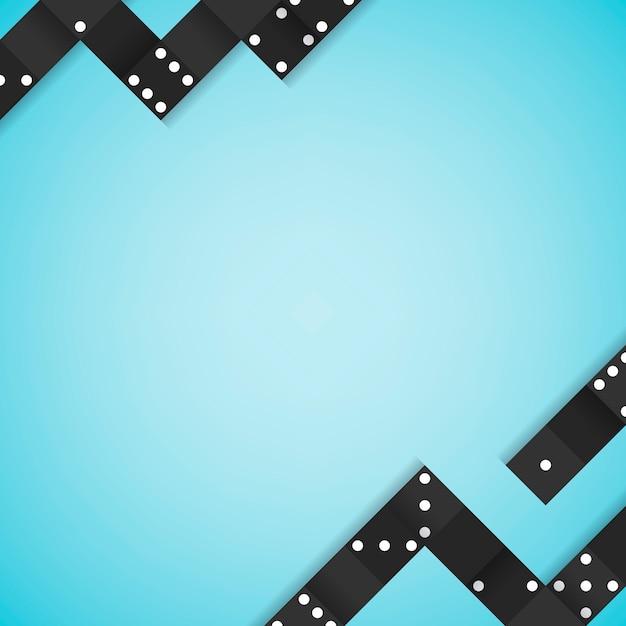 Schwarzes blockiert rahmen auf leerem blauem hintergrundvektor Kostenlosen Vektoren
