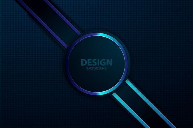Schwarzes hintergrundlicht mit abstrakter farbe modern Premium Vektoren