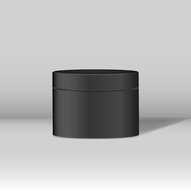 Schwarzes kosmetisches glasmodell Kostenlosen Vektoren