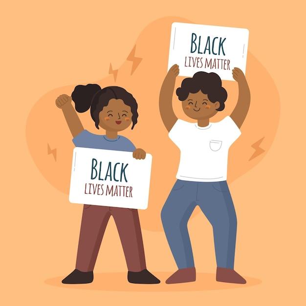 Schwarzes leben materie illustration design Kostenlosen Vektoren