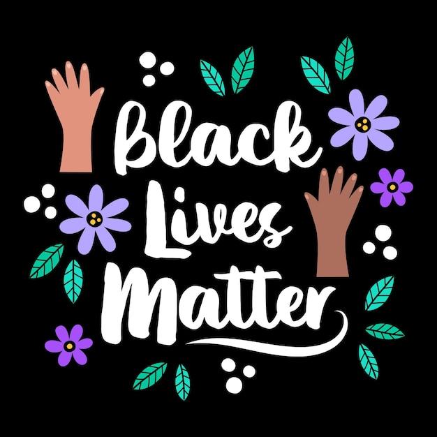 Schwarzes leben materie illustriertes konzept Kostenlosen Vektoren