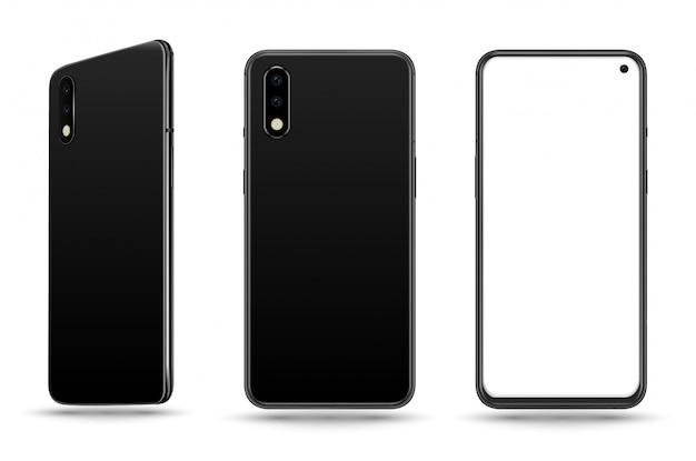 Schwarzes smartphone Premium Vektoren