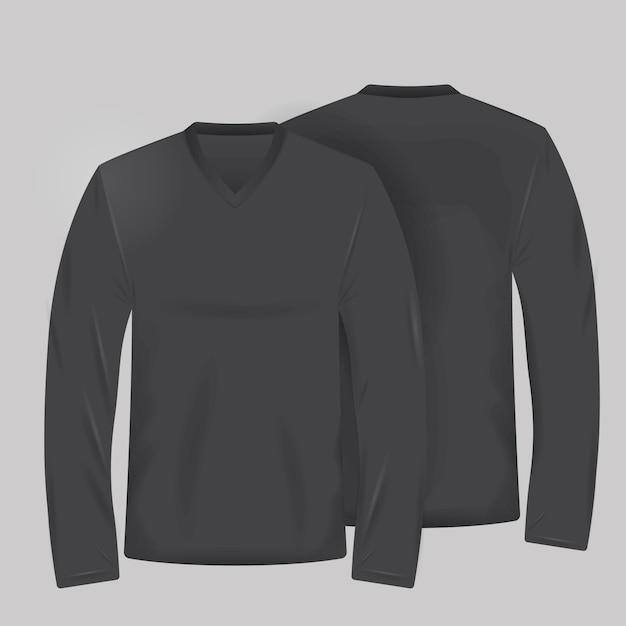 Schwarzes t-shirt-vorlage Kostenlosen Vektoren