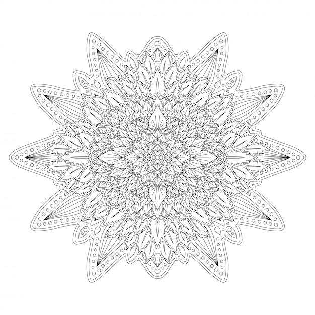 Schwarzweiss-blumenkunst für malbuchseite Premium Vektoren