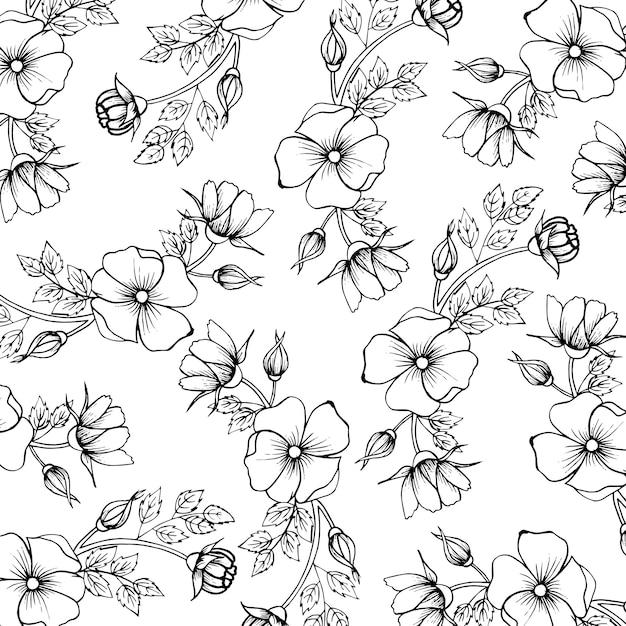 Schwarzweiss - valentine pattern background Premium Vektoren
