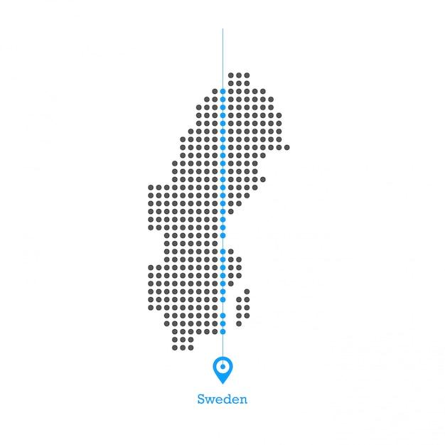 Schweden doled kartenentwurfsvektor Premium Vektoren