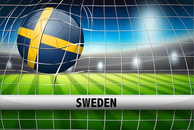 Schweden-fußballweltmeisterschaft Premium Vektoren