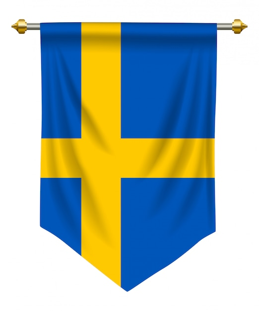 Schweden wimpel Premium Vektoren