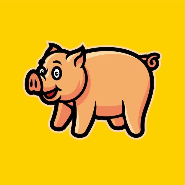 Schwein esports logomaskottchen-vektorillustration Premium Vektoren
