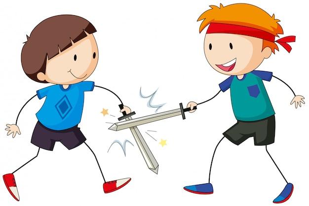 Schwertkampf Kostenlosen Vektoren