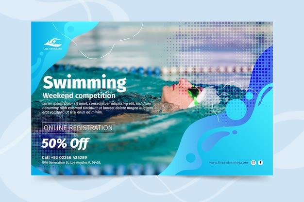 Schwimmbanner-konzept Kostenlosen Vektoren