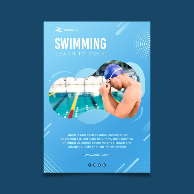 Schwimmen poster vorlage Kostenlosen Vektoren