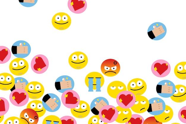 Schwimmende emojis Kostenlosen Vektoren