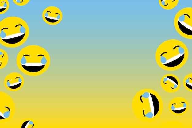 Schwimmendes lachendes emoji Kostenlosen Vektoren