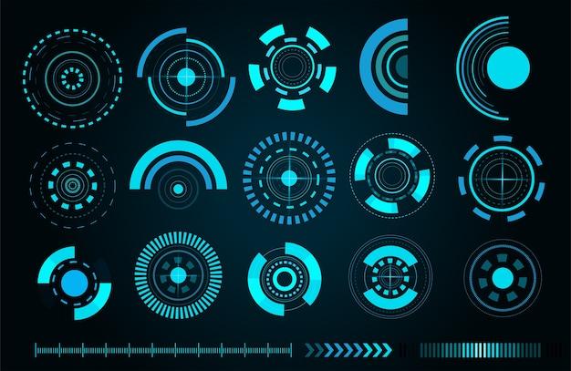 Scientific futuristische benutzerschnittstelle Premium Vektoren