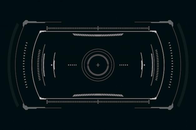Scifi futuristische benutzeroberfläche Premium Vektoren