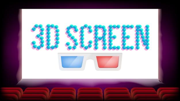Screen 3d movie cinema Premium Vektoren