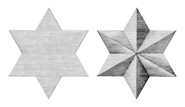 Zackiger stern zeichnen 6 Stern bild: