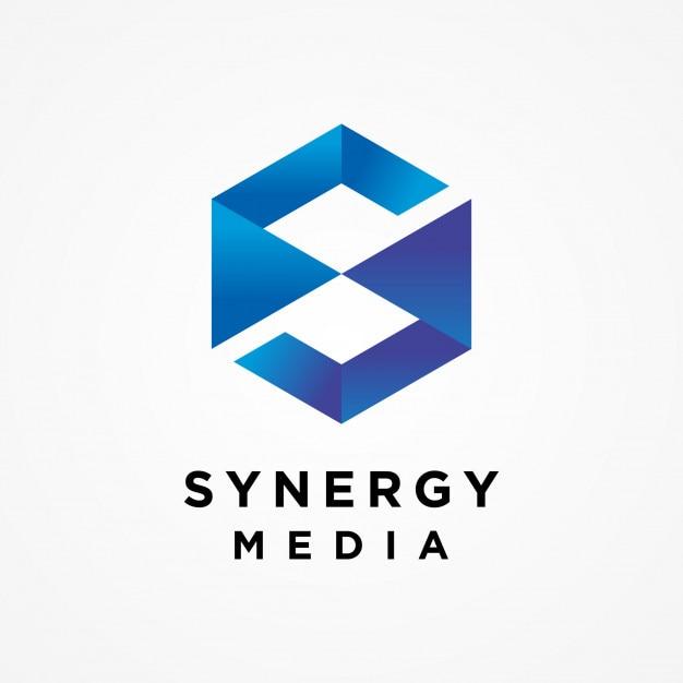 Sechseck Buchstaben Logo Vorlage | Download der Premium Vektor