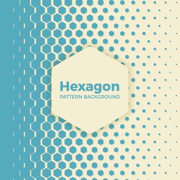 Sechseck-Halbton-Muster-Hintergrund | Download der Premium Vektor
