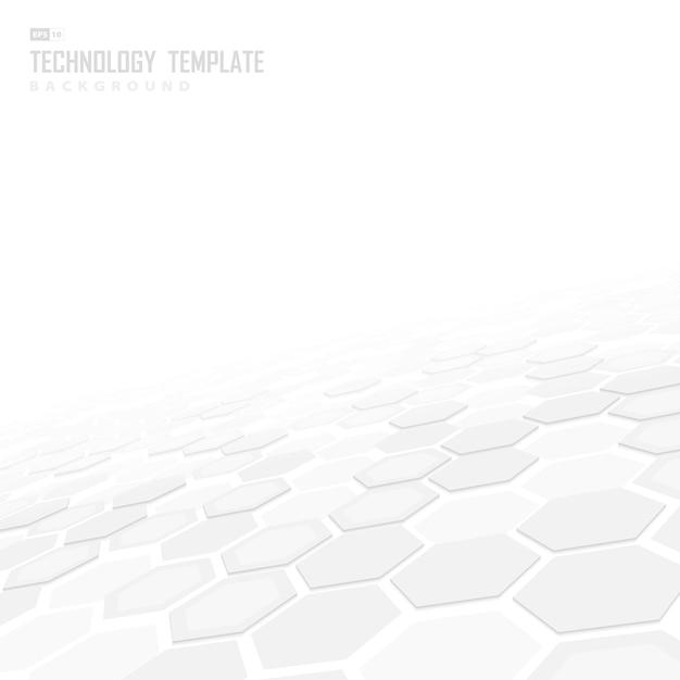 Sechseckiger hintergrund der abstrakten technologie. Premium Vektoren