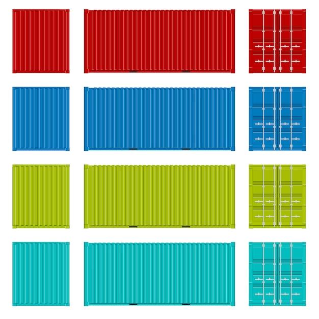 Seefrachtschifffahrt, transportbehälter. Premium Vektoren