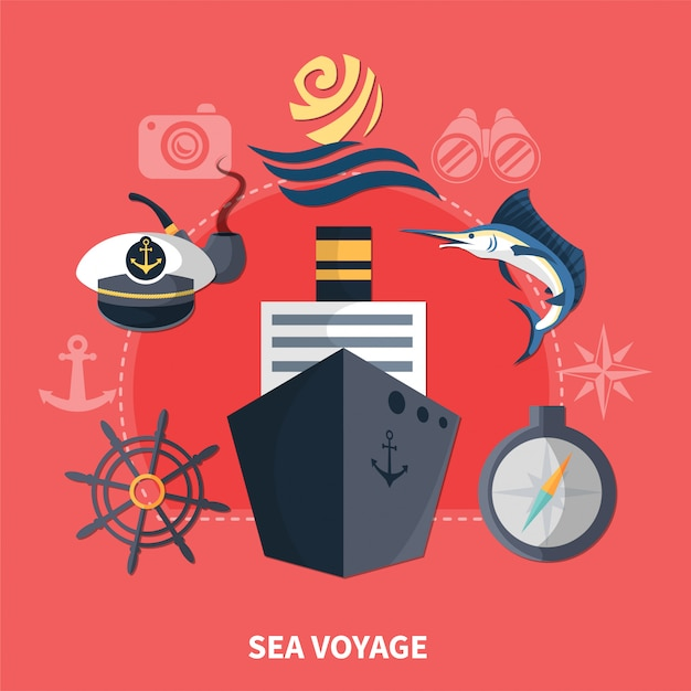 Seereise-konzept Premium Vektoren