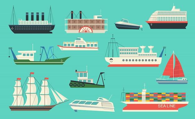 Seetransport-set Kostenlosen Vektoren